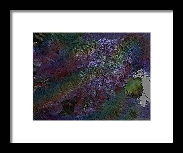 Digital Framed Print featuring the digital art Metallic Color by J P Lambert
