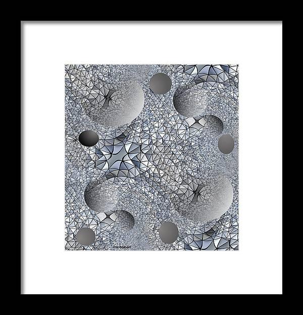 Abstract Art Framed Print featuring the digital art Organic by Iris Gelbart