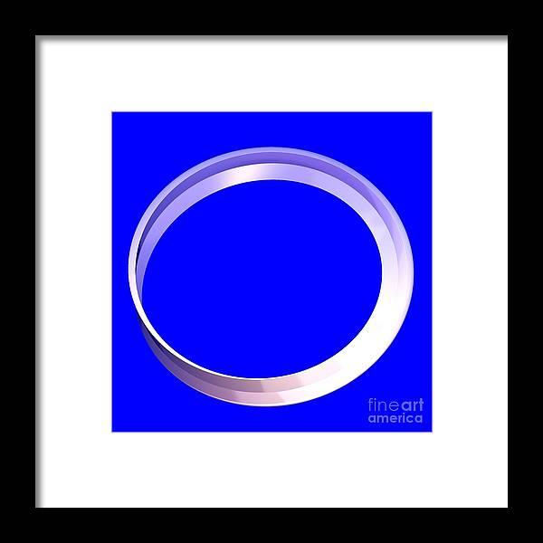 Digital Framed Print featuring the digital art Metallic Mobian by Thomas Smith