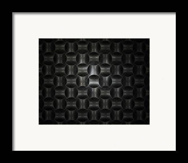 Fractal Framed Print featuring the digital art Metallic Weave by David April