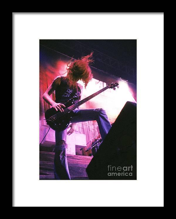 Metallica Framed Print featuring the photograph Metallica 1986 Cliff Burton by Chris Walter