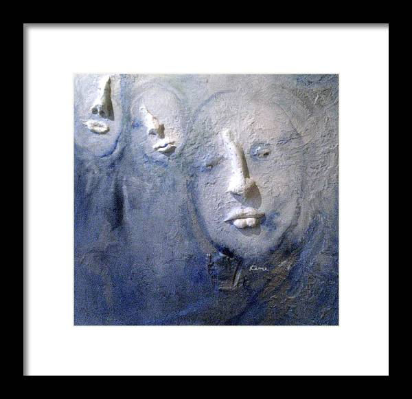 Portraits Framed Print featuring the painting Metamorphosis by Kime Einhorn