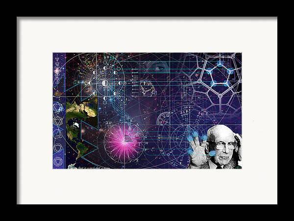 Buckminster Fuller Framed Print featuring the digital art Metaphysical Gravity by Kenneth Armand Johnson