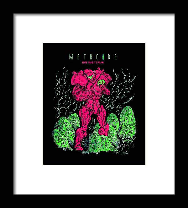 Metroid Framed Print featuring the digital art Metroid by Dono Two