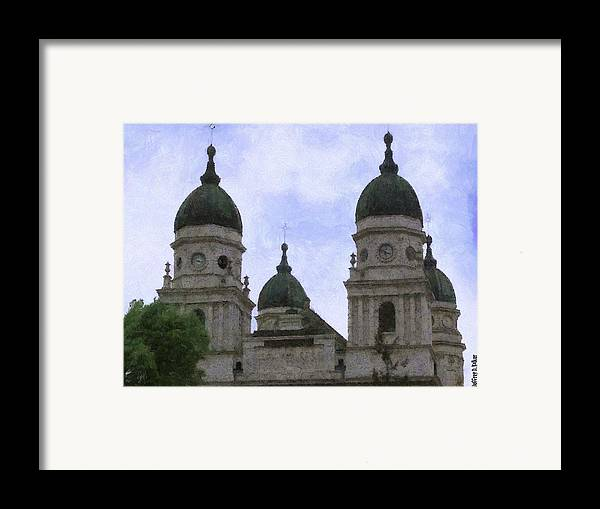 Chapel Framed Print featuring the painting Metropolitan Cathedral by Jeff Kolker