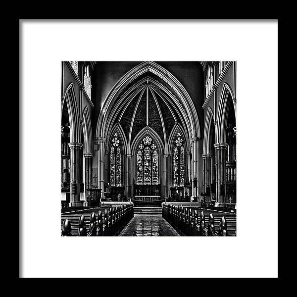 Toptorontophoto Framed Print featuring the photograph Metropolitan United Church Interior by Brian Carson