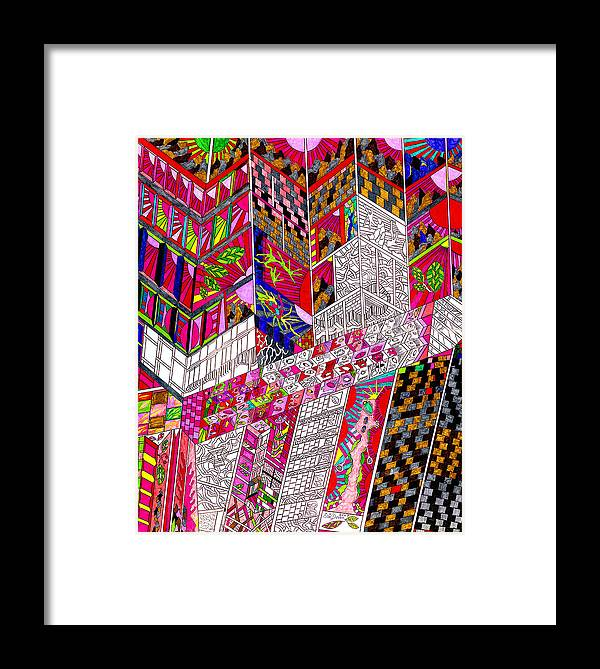City Framed Print featuring the drawing Metropoloitan Morning by Eric Devan