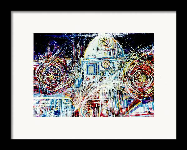 Landscape Framed Print featuring the mixed media Mexican Fireworks by Dale Witherow