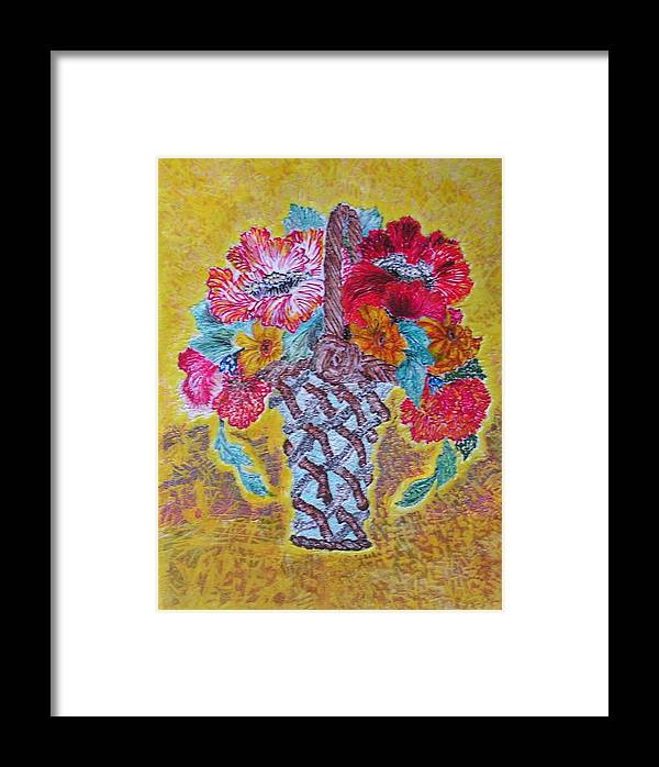 Floral Framed Print featuring the painting Mexican by John Vandebrooke