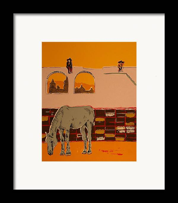 Framed Print featuring the painting Mexican Landscape by Biagio Civale