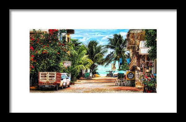 Mexico Framed Print featuring the photograph Mexican Side Street by Gina Cormier