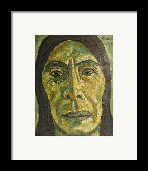 Framed Print featuring the painting Mexican Woman by Biagio Civale