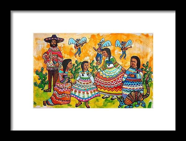 That Painting Is Sold On The Silent Auction In San Antonio. Prints Are Available. Framed Print featuring the painting Mexican Women by Charles Harrison Pompa