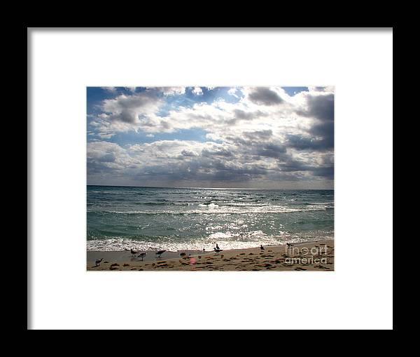 Miami Framed Print featuring the photograph Miami Beach by Amanda Barcon