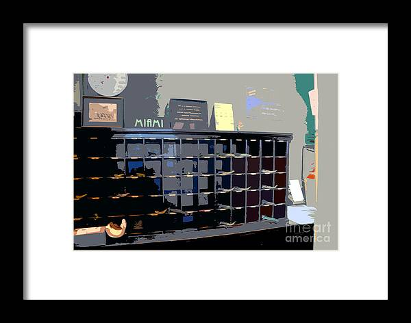 Miami Beach Florida Framed Print featuring the photograph Miami Beach Hotel Key Slots by David Lee Thompson