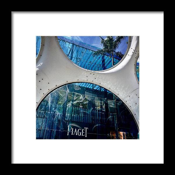 Miamiarchitecturephotography Framed Print featuring the photograph Miami Design District #juansilvaphotos by Juan Silva