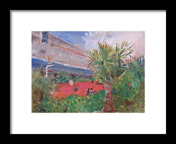 Oil Framed Print featuring the painting Miami International by Horacio Prada
