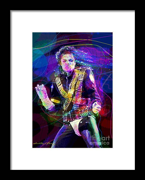 Michael Jackson Framed Print featuring the painting Michael Jackson '93 Moves by David Lloyd Glover