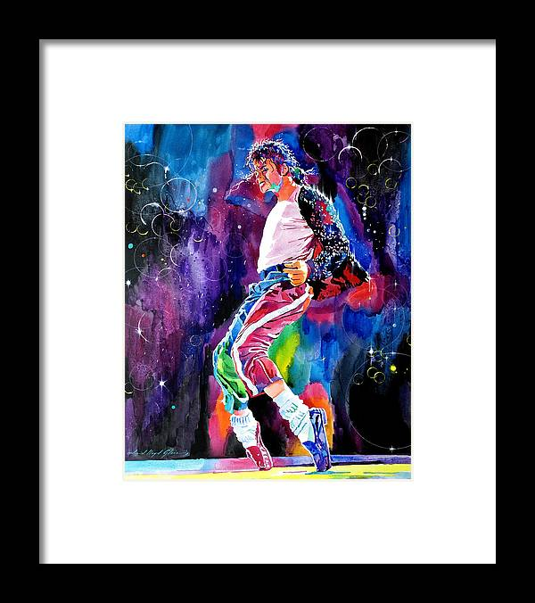 Michael Jackson Framed Print featuring the painting Michael Jackson Dance by David Lloyd Glover