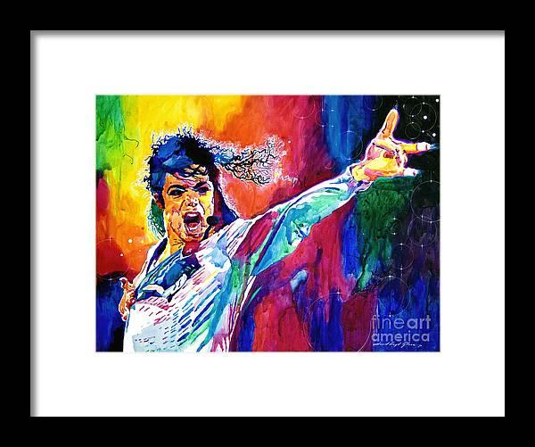 Michael Jackson Framed Print featuring the painting Michael Jackson Force by David Lloyd Glover
