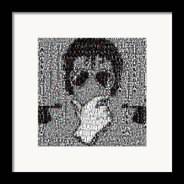 Michael Jackson Framed Print featuring the mixed media Michael Jackson Glove Montage by Paul Van Scott