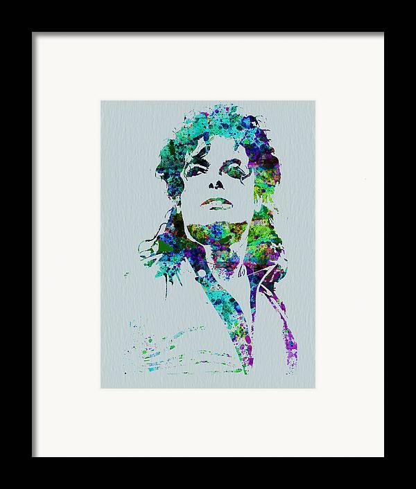 Michael Jackson Framed Print featuring the painting Michael Jackson by Naxart Studio