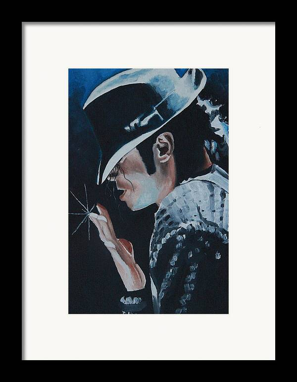 Michael Jackson Portrait Framed Print featuring the painting Michael Jackson by Mikayla Ziegler
