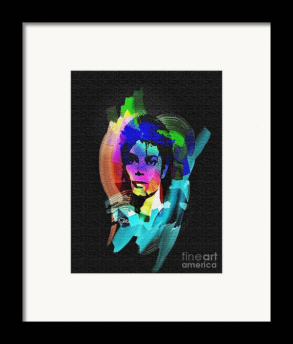 Michael Jackson Framed Print featuring the digital art Michael Jackson by Mo T