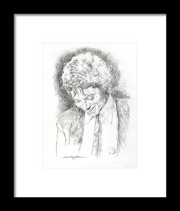 Michael Jackson Framed Print featuring the drawing Michael Jackson - Remember the Time by David Lloyd Glover