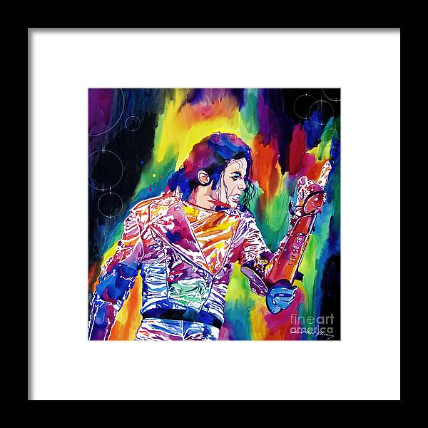 Michael Jackson Framed Print featuring the painting Michael Jackson Showstopper by David Lloyd Glover