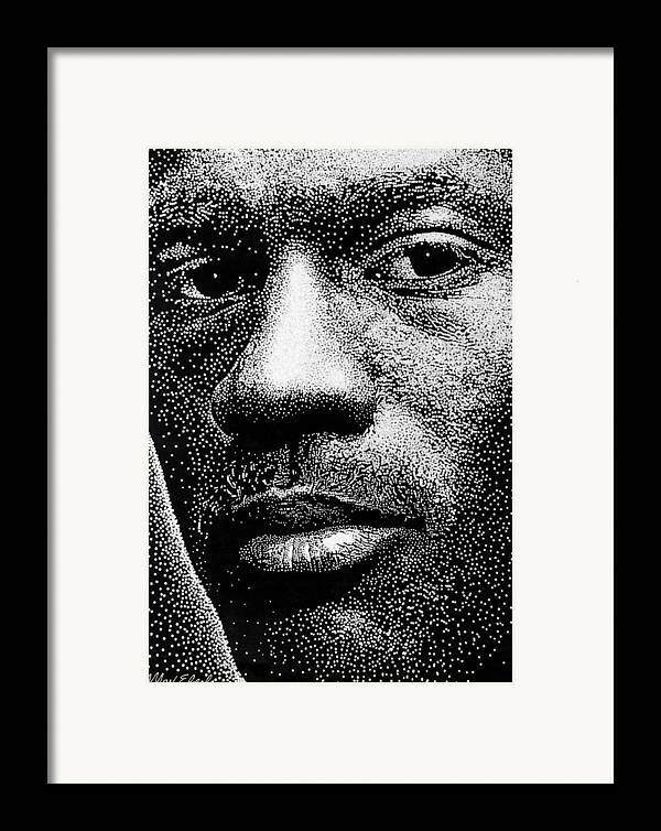 Portrait Framed Print featuring the painting Michael Jordan by Max Eberle