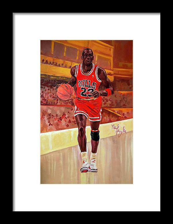 Michael Jordan Framed Print by Neil Feigeles