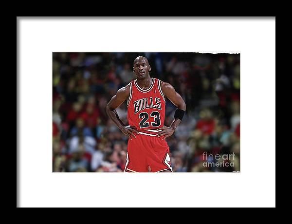 najlepsza strona internetowa nowy haj zamówienie Michael Jordan, Number 23, Chicago Bulls Framed Print