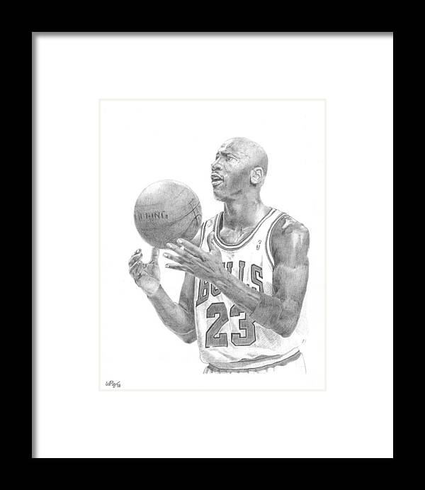 Michael Jordan Framed Print by William Pleasant