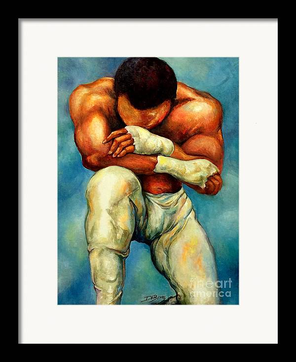 Lloyd Debery Framed Print featuring the painting Michael Original by Lloyd DeBerry
