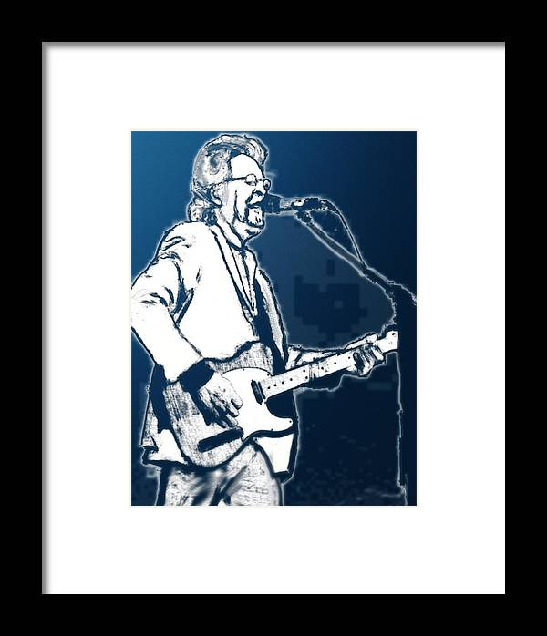 Musician Framed Print featuring the drawing Michael Stanley by Robert Rearick