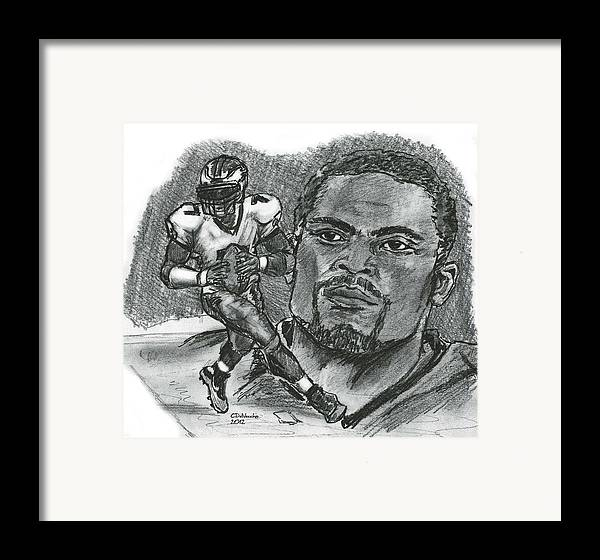 Nfl Framed Print featuring the drawing Michael Vick by Chris DelVecchio