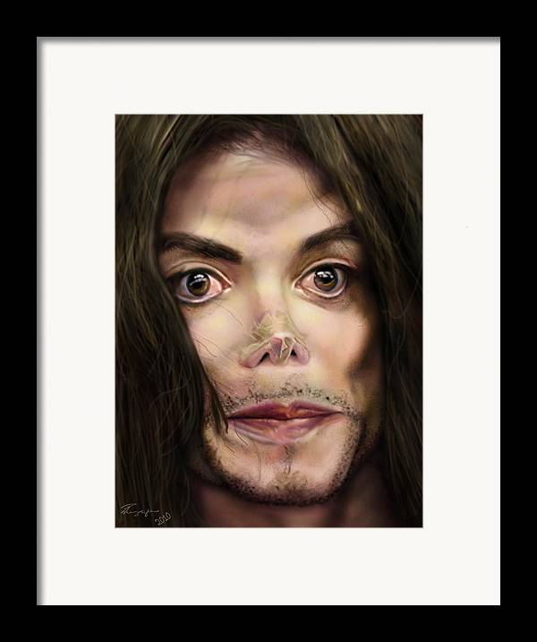 Michael Jackson Framed Print featuring the painting Michaels Magnum Opus 1 by Reggie Duffie