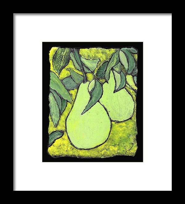 Pears Framed Print featuring the painting Michigan Pears by Wayne Potrafka