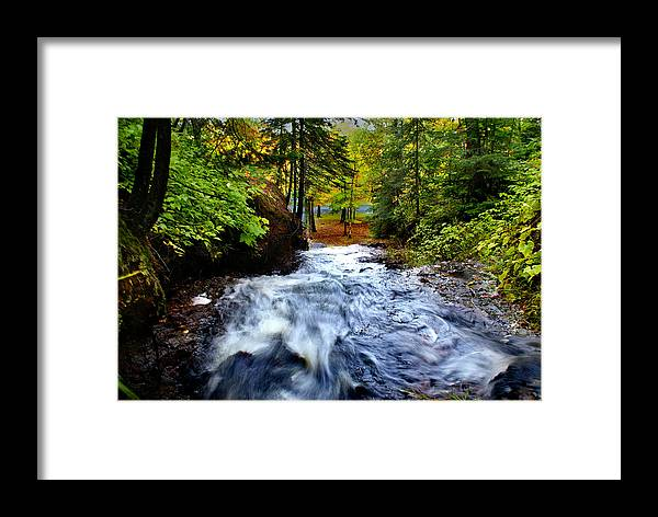 Waterfall Framed Print featuring the photograph Michigan Waterfall by Martin Massari