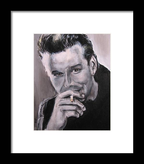 Mickey Rourke Framed Print featuring the painting Mickey Rourke by Eric Dee