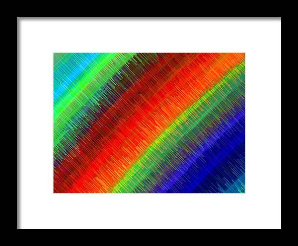 Micro Linear Framed Print featuring the digital art Micro Linear Rainbow by Will Borden