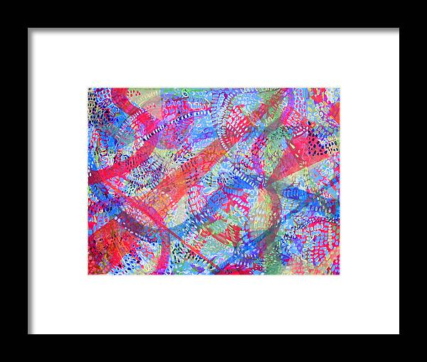 Dots Framed Print featuring the painting Microcosm II by Rollin Kocsis