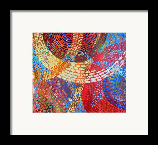 Dots Framed Print featuring the painting Microcosm IIi by Rollin Kocsis