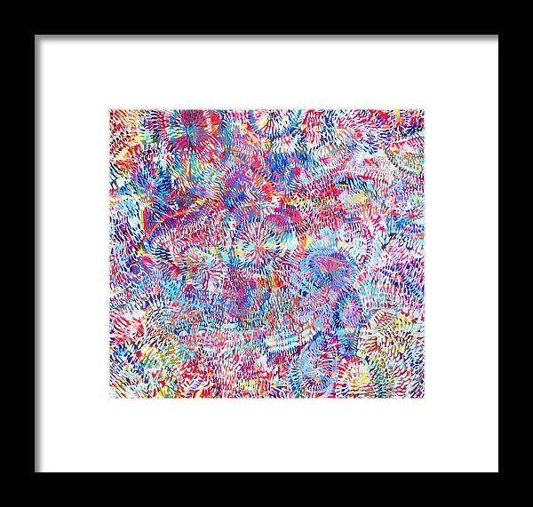 Universe Framed Print featuring the painting Microcosm by Rollin Kocsis