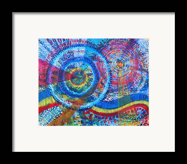 Dots Framed Print featuring the painting Microcosm V by Rollin Kocsis