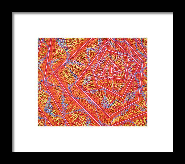 Dots Framed Print featuring the painting Microcosm VII by Rollin Kocsis