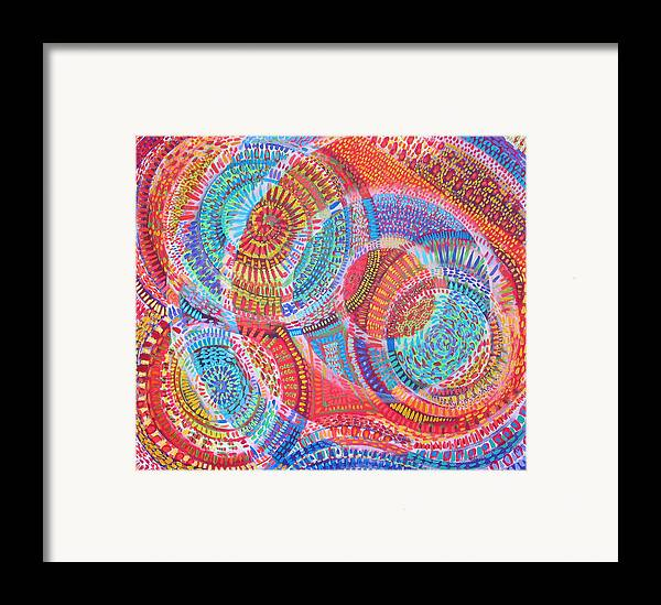 Geometric Framed Print featuring the painting Microcosm Viii by Rollin Kocsis