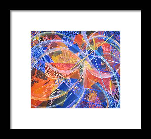 Non-representational Framed Print featuring the painting Microcosm XIII by Rollin Kocsis