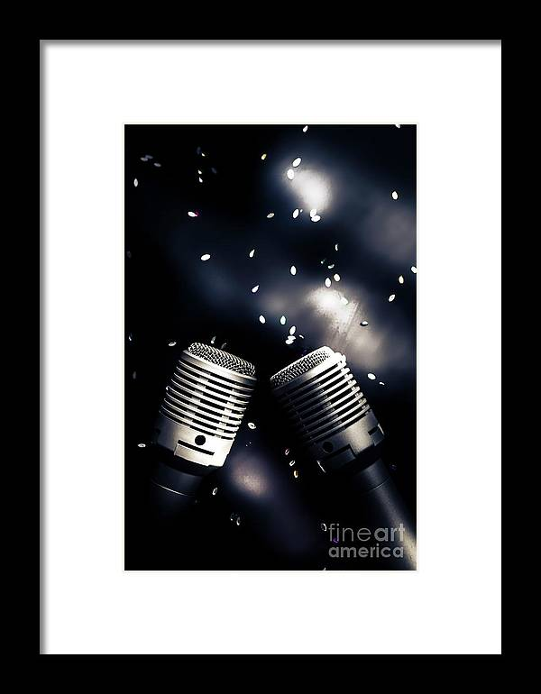 Microphone Framed Print featuring the photograph Microphone Club by Jorgo Photography - Wall Art Gallery